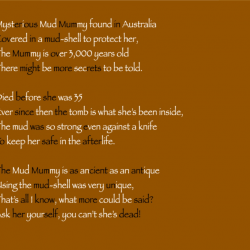 Harry mud mummy poem