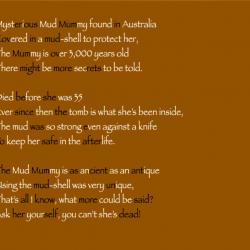 Harry mud mummy poem